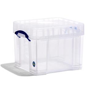 Transparent plastic box - 35 litres