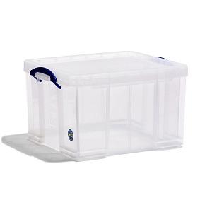 Transparent plastic box - 42 litres