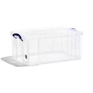 Transparent plastic box - 64 litres
