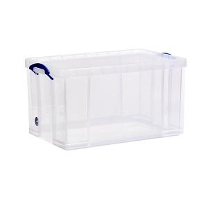 Transparent plastic box - 84 litres