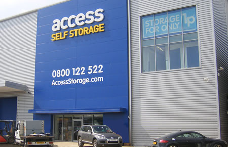 Our Access Self Storage Hedge end facility