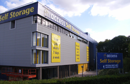 Access self storage location secure storage units in Bassingstoke