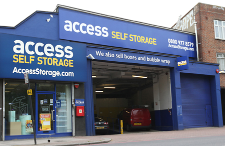 Access self storage location secure storage units in Brixton