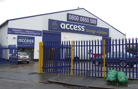 Access self storage location secure storage units in Ealing