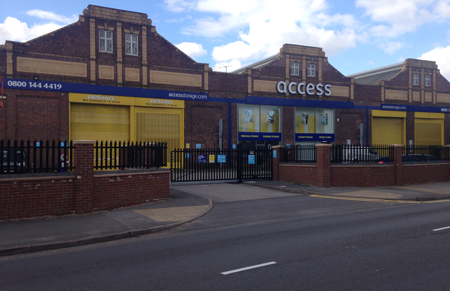 Access self storage location secure storage units in Selly Oak