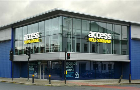 Access self storage location secure storage units in Wandsworth