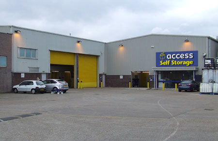 Access self storage location secure storage units in Wimbledon